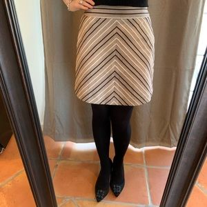 LOFT Chevron Patterned Miniskirt Sz2